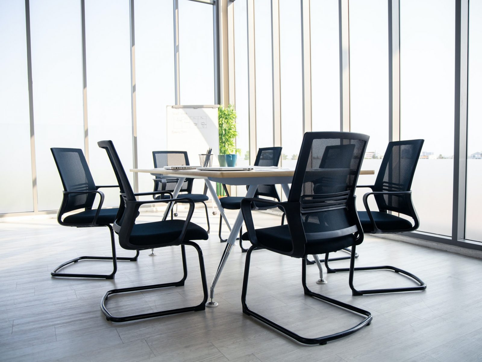 Meeting room in the style of the modern.